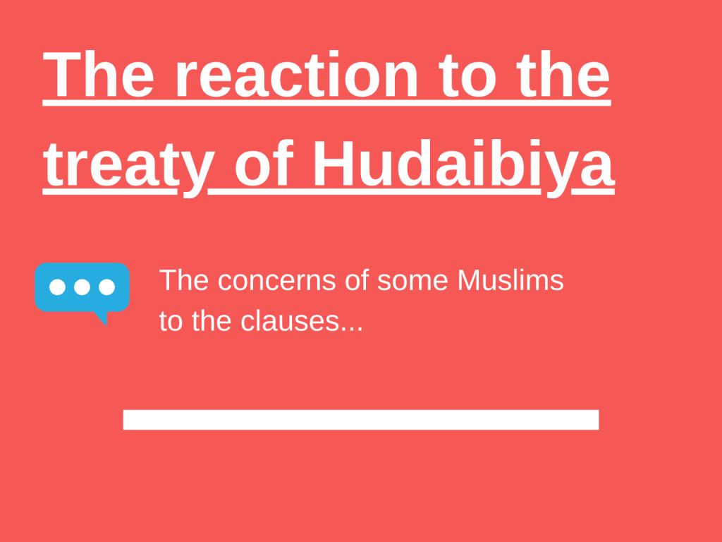 The Treaty of Hudaibiya