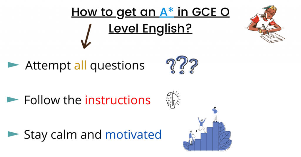 how to get an a in gce o level english