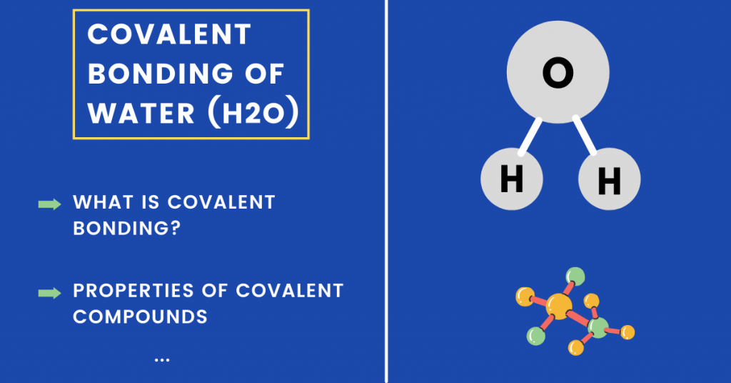 covalent bonding of water