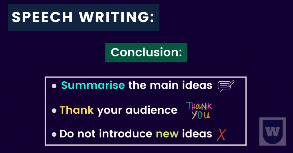 conclusion in speech writing